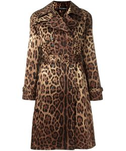 Dolce & Gabbana | Leopard Print Trench Coat 42
