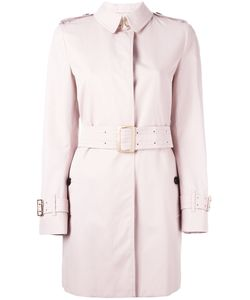 Burberry   Belted Coat 10 Cotton/Acetate/Cupro