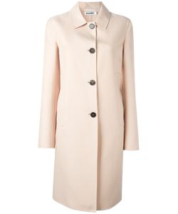 Jil Sander | Midi Buttoned Coat 32 Cotton/Silk/Cupro