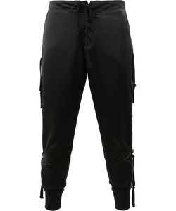 GREG LAUREN | Side Zip Lounge Pants 3 Cotton/Rayon/Satin