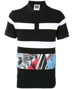 Les Hommes | Printed Trim Polo Shirt Size Small