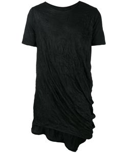 ALCHEMY | Crumpled Effect T-Shirt Large Cotton/Spandex/Elastane