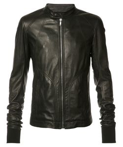 Rick Owens | Zipped Jacket 48 Calf Leather/Cotton