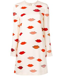 Victoria, Victoria Beckham | Victoria Victoria Beckham Scatte Lips Patch Applique Dress 8