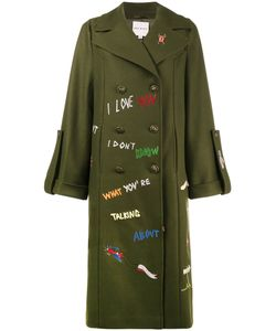 Mira Mikati | Military Peacoat With Embroidery Women Nylon/Viscose/Cashmere/Virgin