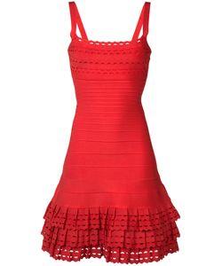 Hervé Léger | Layered Ruffles Fitted Dress Size Medium