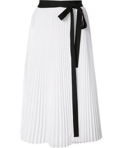 TOME | Pleated Wrap Skirt Small Cotton/Polyester