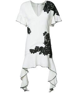 Jonathan Simkhai   Contrast Lace Flutter Dress Size 4