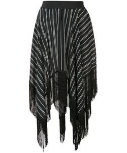 Preen By Thornton Bregazzi | Asymmetric Fringed Skirt Size Small
