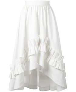 Cedric Charlier | Cédric Charlier Gathe Waist Ruffled Skirt 44 Cotton/Other