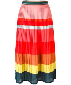 Paul Smith | Striped Pleated Skirt 44 Polyester/Acetate/Silk/Polyamide