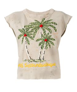 As65 | Palm Tree Embroidered Top