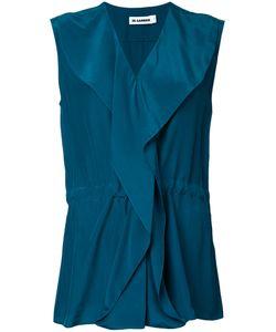 Jil Sander | Wrap Blouse 36 Silk Crepe
