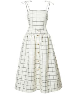 REJINA PYO | Checked Fla Dress 6 Polyester/Silk/Wool
