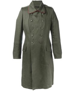 Ann Demeulemeester | Double Breasted Military Coat Medium Linen/Flax/Cotton/Rayon