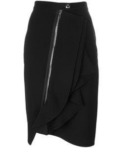 Givenchy | Asymmetric Ruffle Trim Skirt