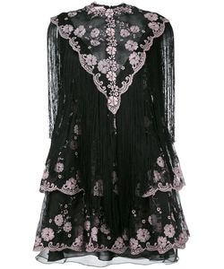 GIAMBA   Frayed Lace Dress 38