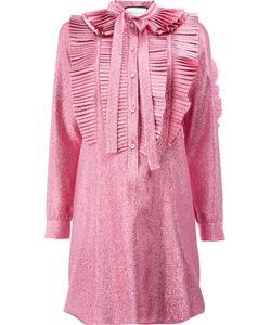 Gucci | Плиссированное Платье Из Люрекса