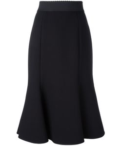 Dolce & Gabbana | Pleated Hem Midi Skirt 44