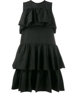 MSGM | Ruffled Mini Dress Size 42 Cotton/Spandex/Elastane/Polyurethane