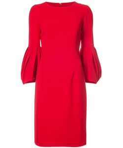 Carolina Herrera | Pleated Full Sleeve Dress Women Silk/Cotton/Virgin