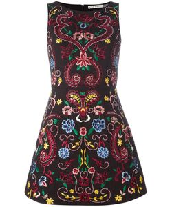 Alice + Olivia | Lindsey Embroidered Structured Dress Size 8