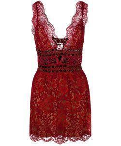 For Love & Lemons | For Love And Lemons Sheer Lace Mini Dress
