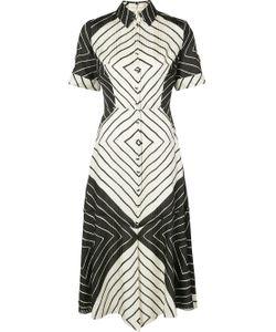 CHRISTIAN SIRIANO | Contrast Panel Shirt Dress