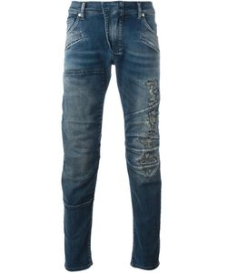 Pierre Balmain | Panelled Slim-Fit Jeans 33 Cotton/Spandex/Elastane