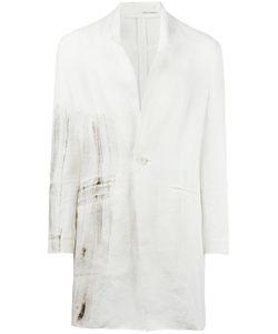 Isabel Benenato | Longline Blazer 48 Linen/Flax