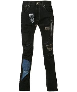 Black Fist | Shredded Patchwork X Elliott Evan Jeans Size 30
