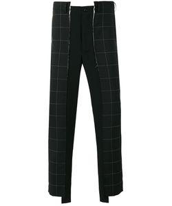 COMME DES GARCONS HOMME PLUS | Comme Des Garçons Homme Plus Plaid Asymmetric Cropped Trousers Size