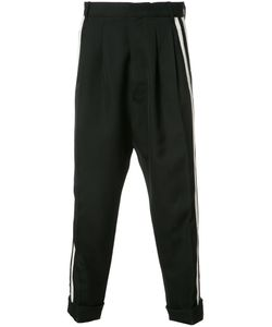 Haider Ackermann | Drop-Crotch Pleated Cropped Trousers 46 Wool