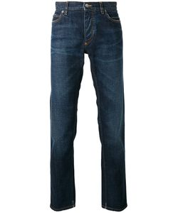 Dolce & Gabbana | Straight Jeans 44 Cotton/Glass/Plastic/Silk