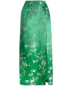 ATTICO | Silk Jacquard Print Mid Length Skirt Women