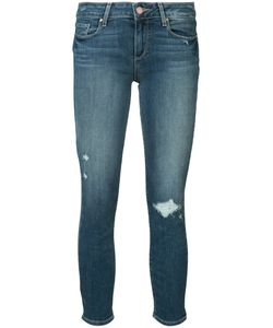 Paige | Distressed Ankle Jeans 25