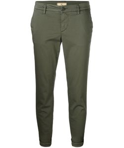 Fay | Cropped Slim-Fit Trousers 31 Cotton/Spandex/Elastane