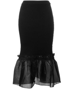 Opening Ceremony | Ruffle Hem Pencil Skirt Small Viscose/Polyester