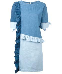 Steve J & Yoni P | Frill Detail Denim Dress