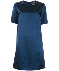 'S Max Mara | Embellished Neck Shift Dress 44