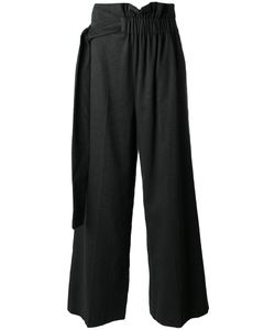 MSGM | Belted Palazzo Pants 38 Cotton/Linen/Flax