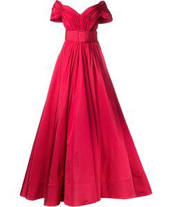 CHRISTIAN SIRIANO | Off-Shoulders Fla Gown 6 Silk