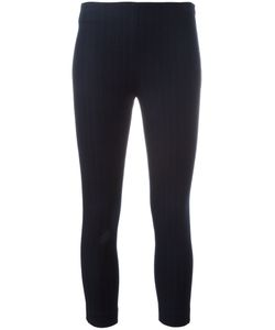 Joseph | Pinstriped Cropped Leggings 42 Viscose/Cotton/Spandex/Elastane