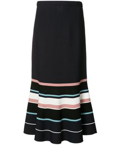 Grey Jason Wu | Flared Striped Skirt Size Large