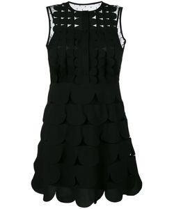 Red Valentino | Scalloped Mini Dress 40 Polyester/Polyamide