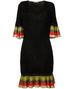 Marco De Vincenzo | Knitted V-Neck Dress 40 Cotton/Viscose
