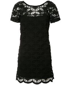 D.exterior | Embroidered Shift Dress Small
