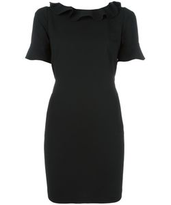 Twin-set | Ruffle Trim Shift Dress 44 Spandex/Elastane/Acetate/Viscose