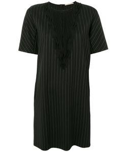 Marco De Vincenzo | Полосатое Платье С Плиссировками Спереди