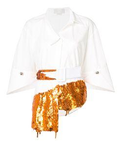 Monse | Рубашка С Поясом И Пайетками